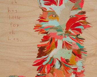 Oh Hey Little Fox Canvas Art Print by Jennifer Mercede