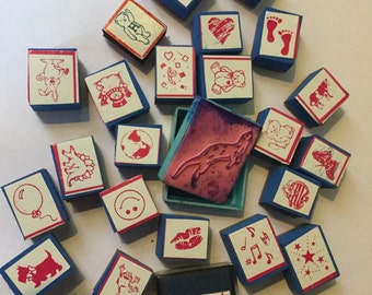 Bunch Of Cute Small Rubber Stamps