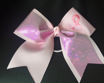 Special order for Alisha Breast Cancer Cheer Bow - Pink 3 inch ribbon
