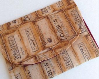 "Wine Cork Wallet/Cardholder/Gift card holder 4 1/2"" x 3 1/2"" free shipping"