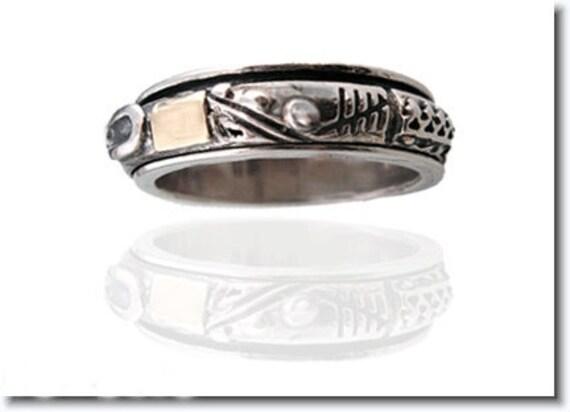 Spinning Ring, Spinner Ring, Meditation Ring, Spin ring, Sterling Silver Ring, Israeli Ring, Prayer ring, Israeli Jewelry, 14k Gold