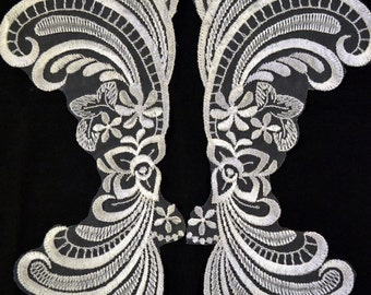 Vintage Trim  Lace Appliques 11 inches long 2 in package