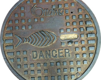 DOORMAT - Ottawa Sewer Cover - Original Photography