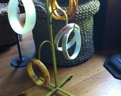"Vintage Jewelry Display Stand really mug holder but redo gold 14"" by 6"""