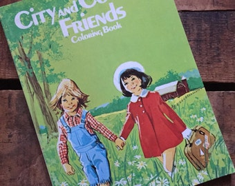 Vintage City and Country Friends Coloring Book - Unused