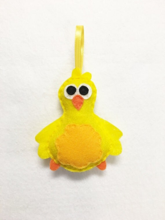 Bird Ornament, Christmas Ornament, Humpledink the Baby Bird - Made to Order, Felt Ornament, Felt Animal, Holiday Decoration