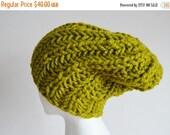 Sale Lemongrass Hat, Chunky Knit Hat, Navigator Hat, Women's Fashion Knit Hat