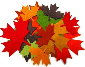Diecut MAPLE LEAVES, leaf, DIY,  wool felt blend,  appliques, fall, autumn  leaves, 14 precision die cut