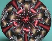Polymer Clay Kaleidoscope Cane -'Drama Queen' (36aa)