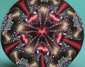 HALF PRICE SALE Polymer Clay Kaleidoscope Cane -'Drama Queen' (36aa)