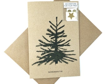 Decorate your own Christmas tree cards