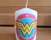 Wonder Woman Inspired 2x3 Pillar Candle