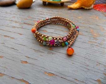 Fruiti crocheted wrap bracelet or necklace, bohemian, crocheted jewelry, boho, casual, evening wear, day wear