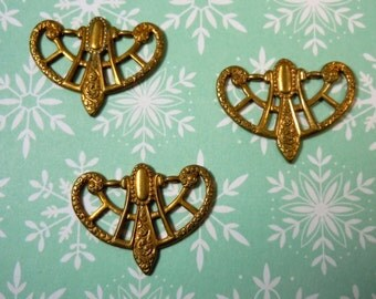 Vintage Brass Art Nouveau Cast Components (2)