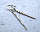 Simple Sterling Silver Spike Earrings