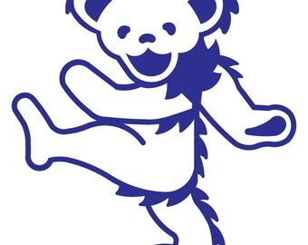 Grateful Dead Dancing Bear Sticker Vinyl Decal for Wall or Vehicles Graphics