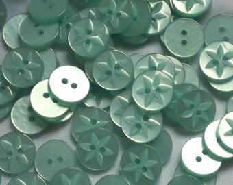 Pale Aqua buttons,15mm x 12