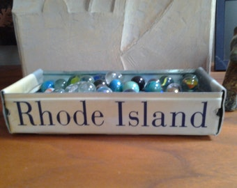 Rhode Island License Plate Tray - Rustic Storage Box - Planter -  FREE SHIPPING - Providence - Newport