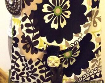 Mod Purse, Fringed Bag, Flower Power Purse, Boho Shoulder Bag, Hippie Bag, Jeweled, EcoFrendly