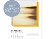 Calendar Template 2017 - Photography Calendars - Retro Art Desk Calendar - 2017 Calendar Templates Download - Printable Calendar 2017