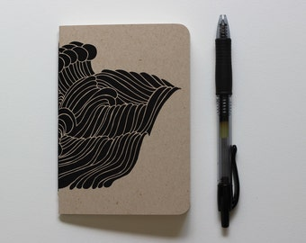 Small Journal | Pocket Notebook | Water | Surf | Ocean | Sea | Gift for Writer | First Anniversary | Gift for Surfer | Stocking Stuffer