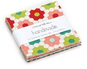 20% off Precuts SALE fabric, Handmade Collection Charm Pack, Bonnie and Camille by Moda, 5 inch squares of Entire Line, Charm Squares