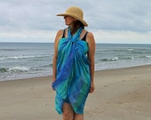 Under the Sea ... hand painted silk sarong