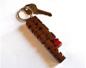 Ipe Wood 2-Liner Love Key...