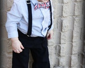 Toddler Suit 24m-4t boy 2 piece suit suspender and pant suit with optional add on items