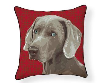 Pooch Décor: Weimaraner Pillow