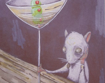 Dirty Dirty Martini - City Rats - Original Illustration - Digital Print