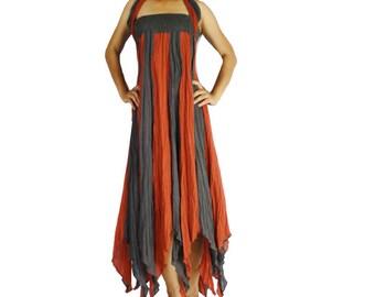 Boho Hippie 2 in 1 Smock Maxi Dress& Summer Long Skirt (SD 03)