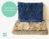 DIY - Video Tutorial Bah Bah Tablet Sleeve or Winter Clutch - Advanced level - 9 videos - Instant download