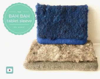 DIY - Video Tutorial Bah Bah Tablet Sleeve or Winter Clutch - Advanced level - 9 videos - Instant download