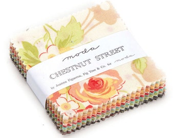 SQ23 Moda CHESTNUT STREET Precut MINI Charm Pack Fabric Quilting Cotton Squares Fig Tree 20270MC