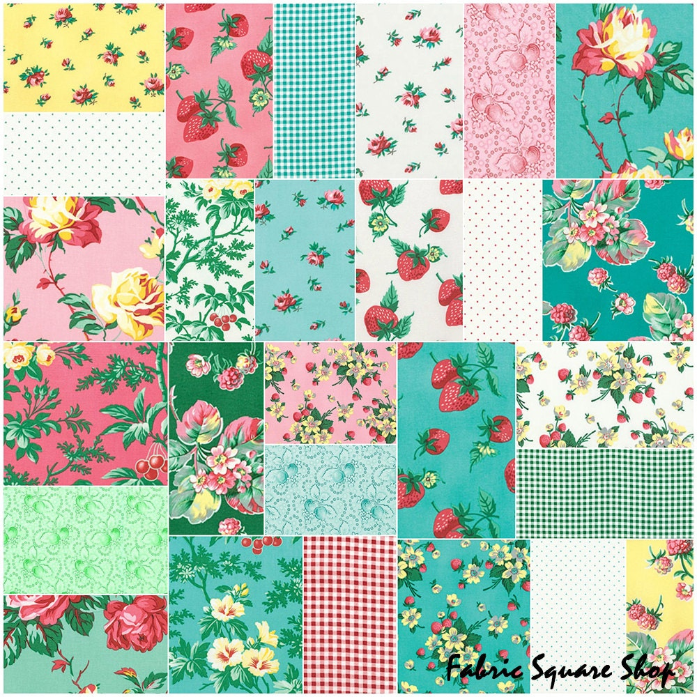 Sale fabric verna mosquera fruta y flor design roll 2 5 for Quilting fabric sale