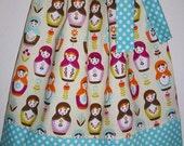 Pillowcase Dress, Girls Dresses, Little Matryoshka, Riley Blake, Russian Dolls, Babushka Dress, Dress with Dolls, Baby Dresses, Nesting Doll