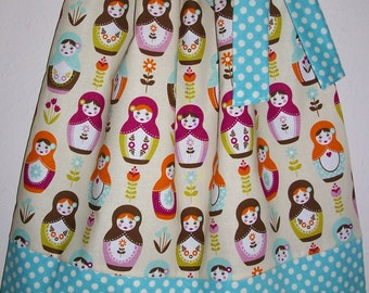 Pillowcase Dress, Girls Dresses, Little Matryoshka, Riley Blake, Russian Dolls, Babushka Dress, Dress with Dolls, Baby Dresses, Nesting Doll