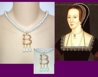 Anne Boleyn Replica Renaissance Necklace, Portrait Replica, Tudor Necklace, Tudor Reproduction, Renaissance Jewelry, Medieval Necklace