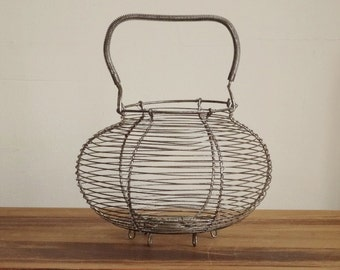 French Wire Egg Basket Large 12 Inches