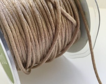 satin string - satin rope - copper  - bakers twine - holiday decor - holiday wrapping
