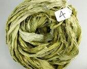 Silk Sari Ribbon, Sari silk ribbon, recycled ribbon, lichen green ribbon, green sari ribbon, green silk ribbon