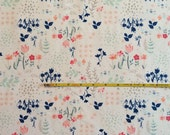 NEW Art Gallery Library Gardens on cotton Lycra  knit fabric 1 yard