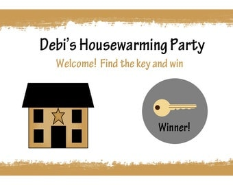 24 Personalized Scratch Off Game Cards - Housewarming Game Cards -  New Home - Housewarming