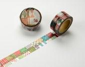 Flower Garden Round Top Masking Tape • 3rd / STONE Chamilgarden Design MTW-1312-030