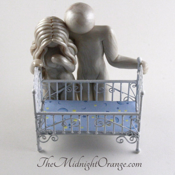 The Empty Cradle - memorial gift for pregnancy and infant loss or infertility - grieving motheror parents sculpture - made to order