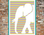 Elephant on Stripes - a Counted Cross Stitch Pattern
