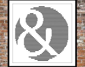 Round Ampersand - a counted cross stitch pattern