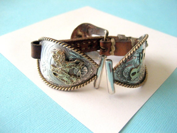 Vintage Wage Sterling Silver Overlay Western Watch Bands