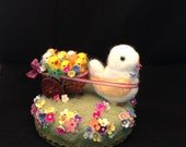 Needle Felted Chick centerpiece  by Maria Pahls